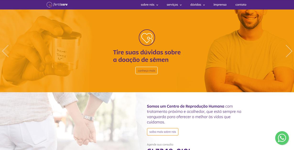 rebranding-site-fertilcare-doação-de-semen